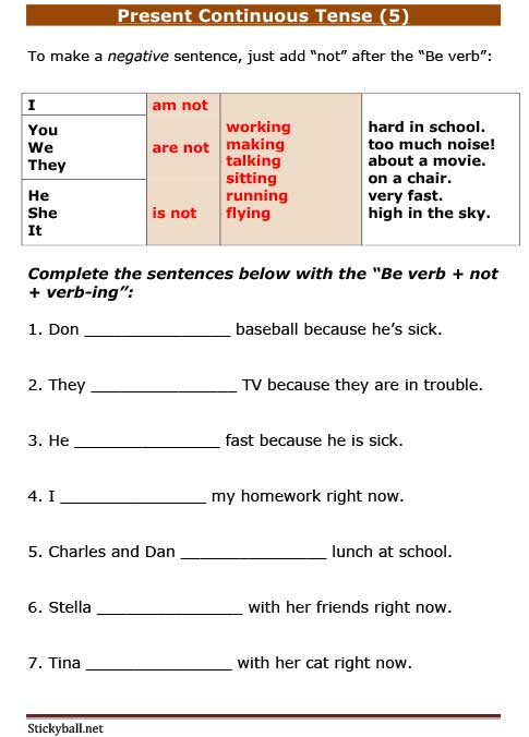 Stickyball Net Esl For Kids Esl Writing Worksheets Grammar