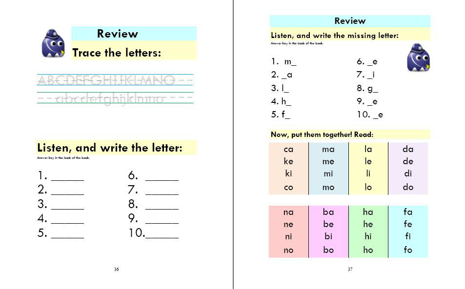 Phonics Monster Book 1 sample 3
