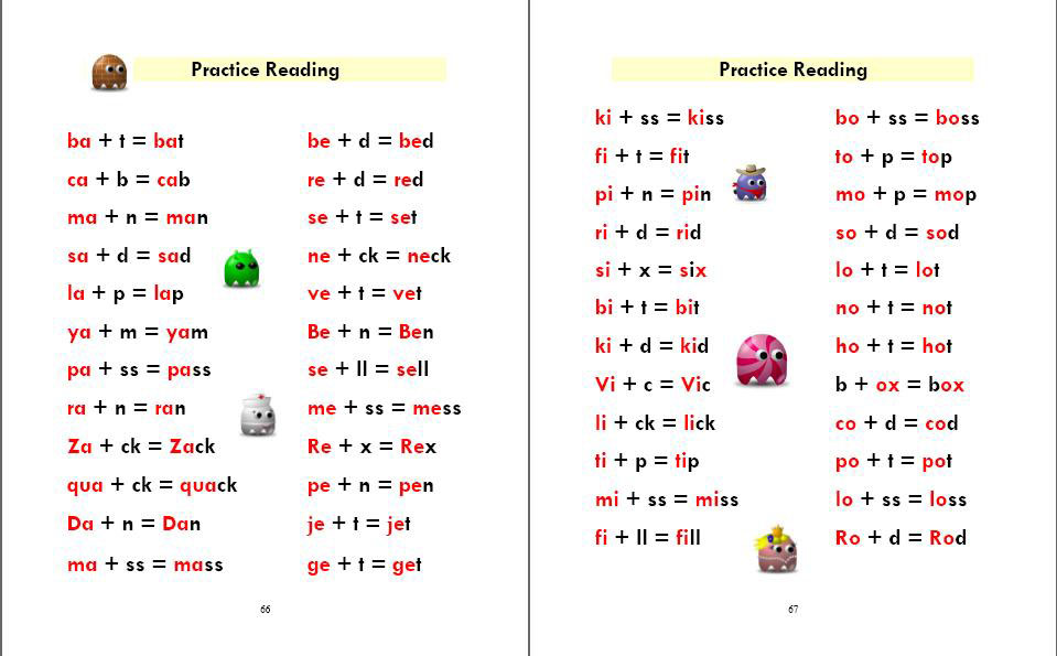 Phonics Monster Book 1 sample 4