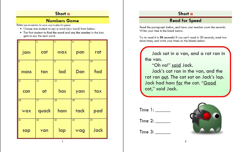 Phonics Monster Book 2 sample 3