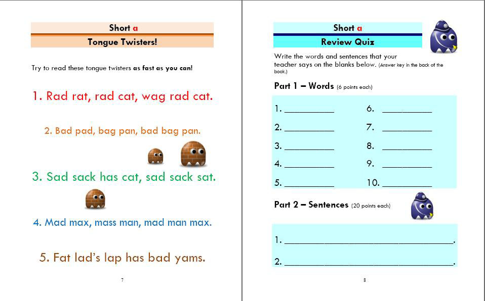 Phonics Monster Book 2 sample 4