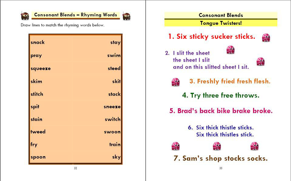 Phonics Monster Book 4 sample 3